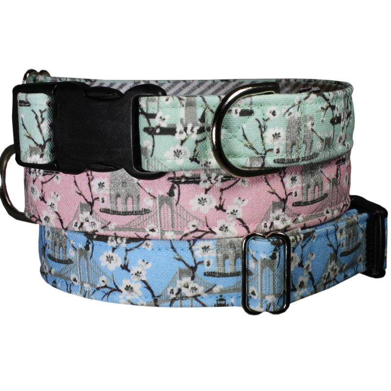 Our Good Dog Spot Newport Blossoms Dog Collar Soft Light Hues