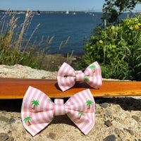 Our Good Dog Spot Striped Palm Tree Bowtie