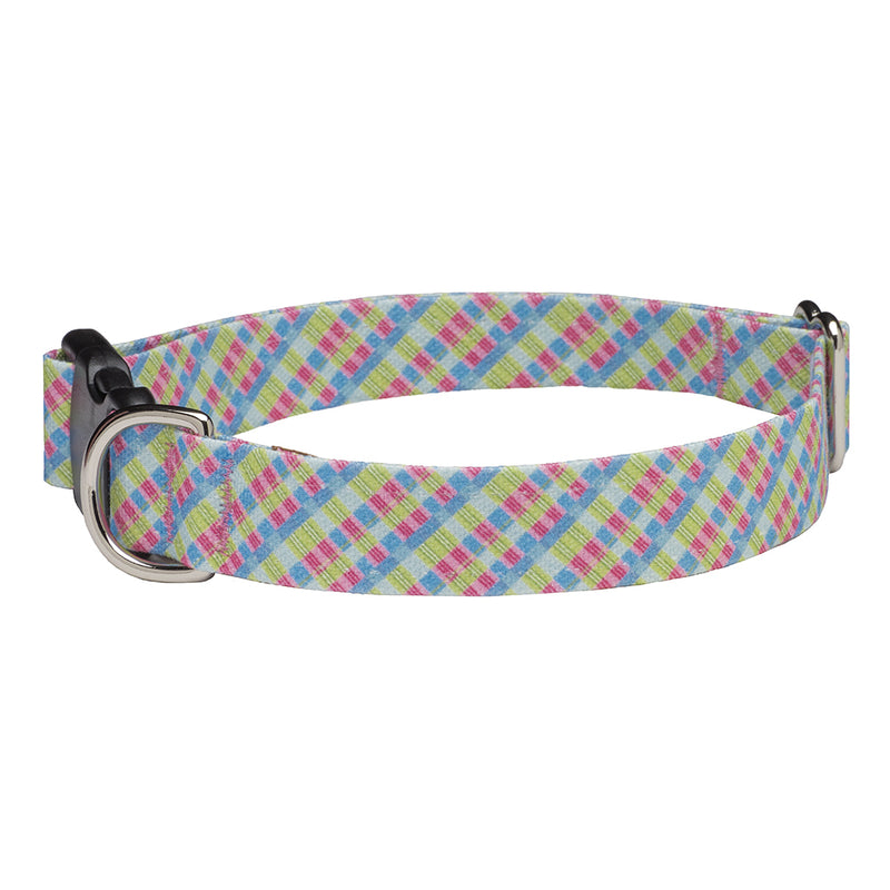 Our Good Dog Spot Palm Beach Plaid Dog Collar