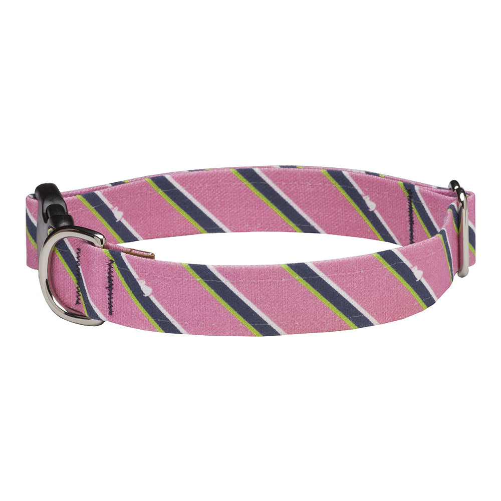 Our Good Dog Spot Pink Prep Repp Stripe Dog Collar