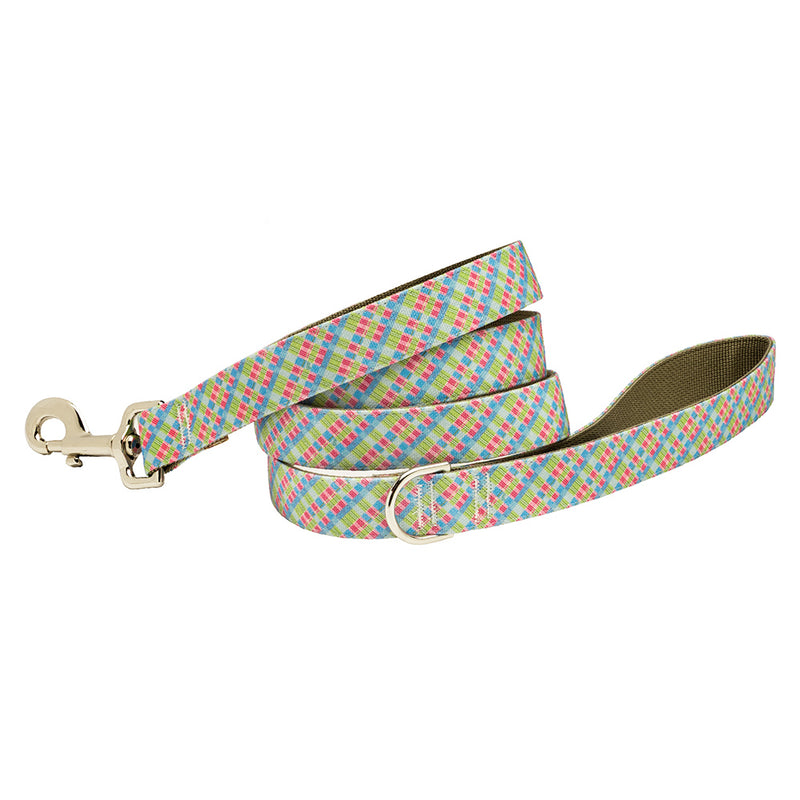 Our Good Dog Spot Palm Beach Plaid Dog Lead