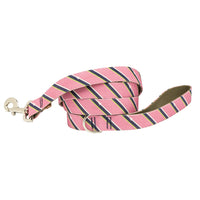 Our Good Dog Spot Pink Prep Repp Stripe Dog Lead