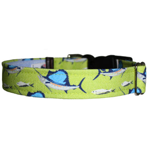 Deep Sea Fishing Dog Collar - Green