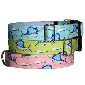 Deep Sea Fishing Dog Collar - Blue