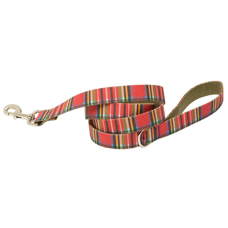 Our Good Dog Spot Landsdowne Tartan Dog Lead Red