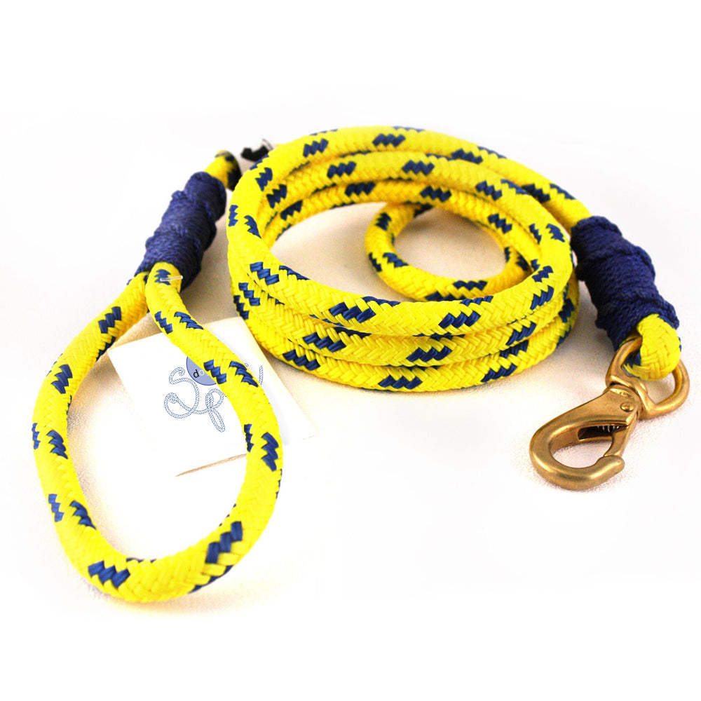 Our Good Dog Spot Coastal Yellow Lobsterman Lead