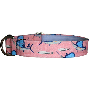 Deep Sea Fishing Dog Collar - Pink