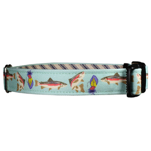 Freshwater Trout Dog Collar - Mint