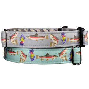 Freshwater Trout Dog Collar - Stone