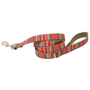 Landsdowne Tartan Dog Lead - Red