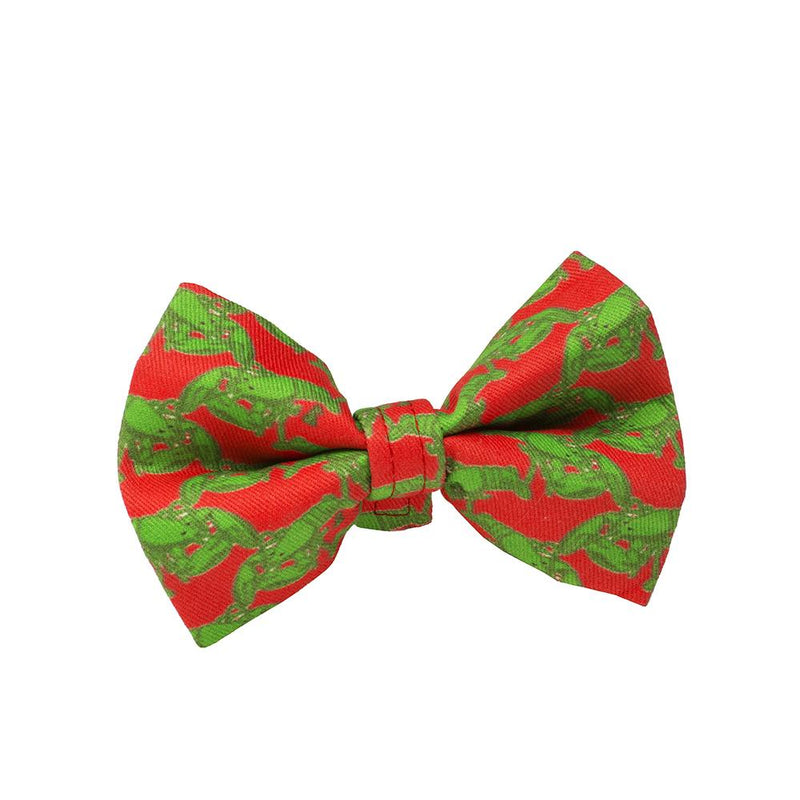 Rockin' Christmas Lobster Bow Tie - Evergreen