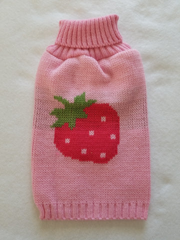 Pink Strawberry Knit Sweater
