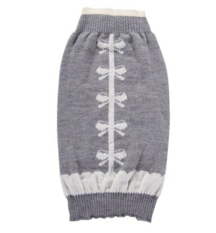 Grey and White Knit Sweater