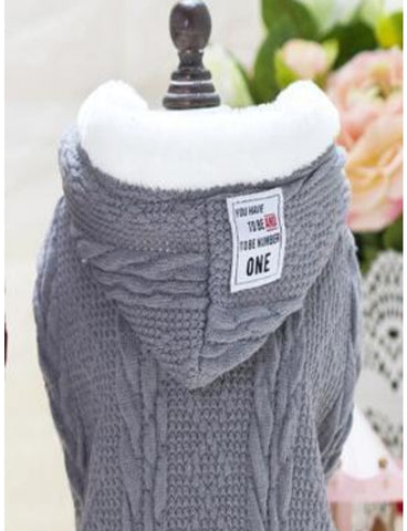Cable Knitted Fleece-Lined Sweater