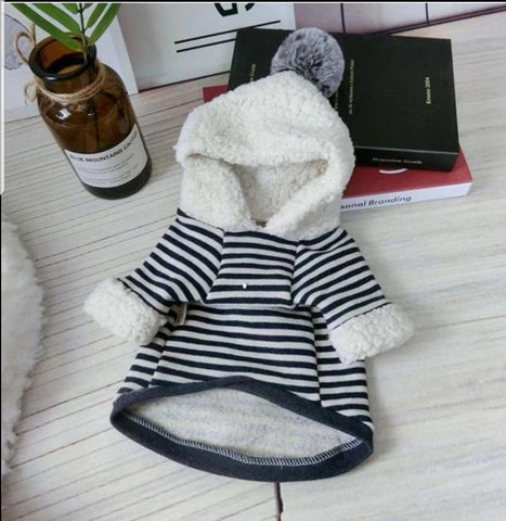 Striped Long Sleeve Hooded Sweatshirt