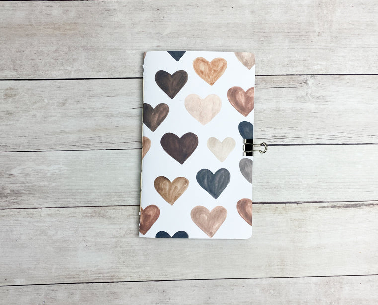 Hearts Travelers Notebook Insert