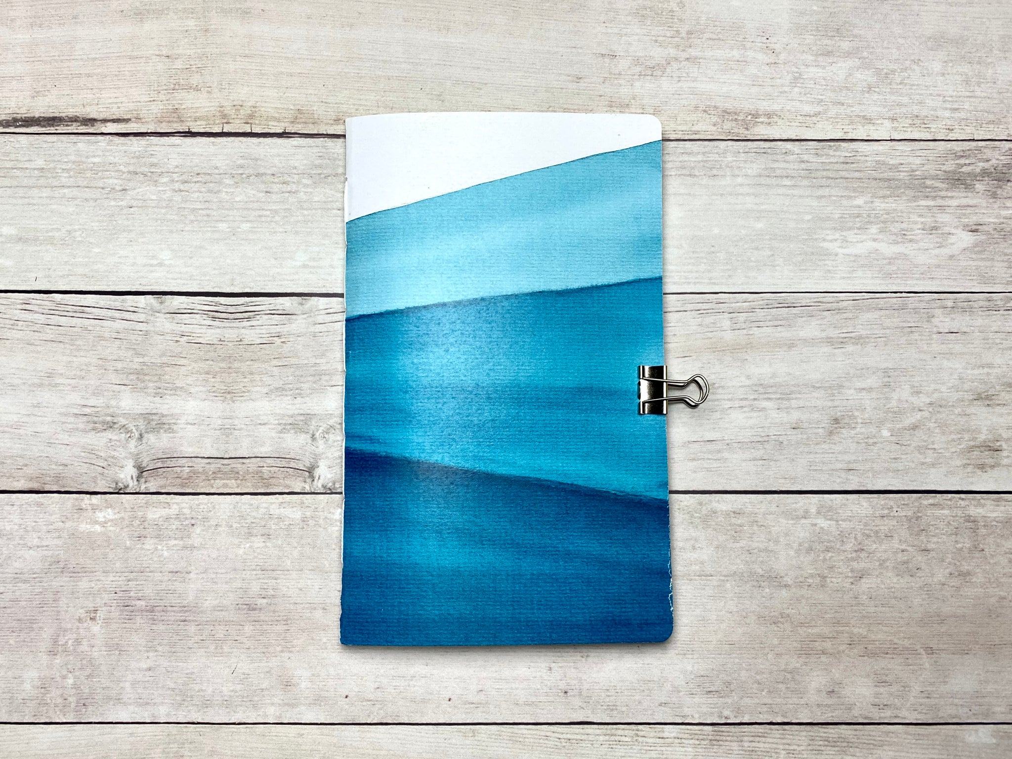 Blue Abstract Travelers Notebook Insert