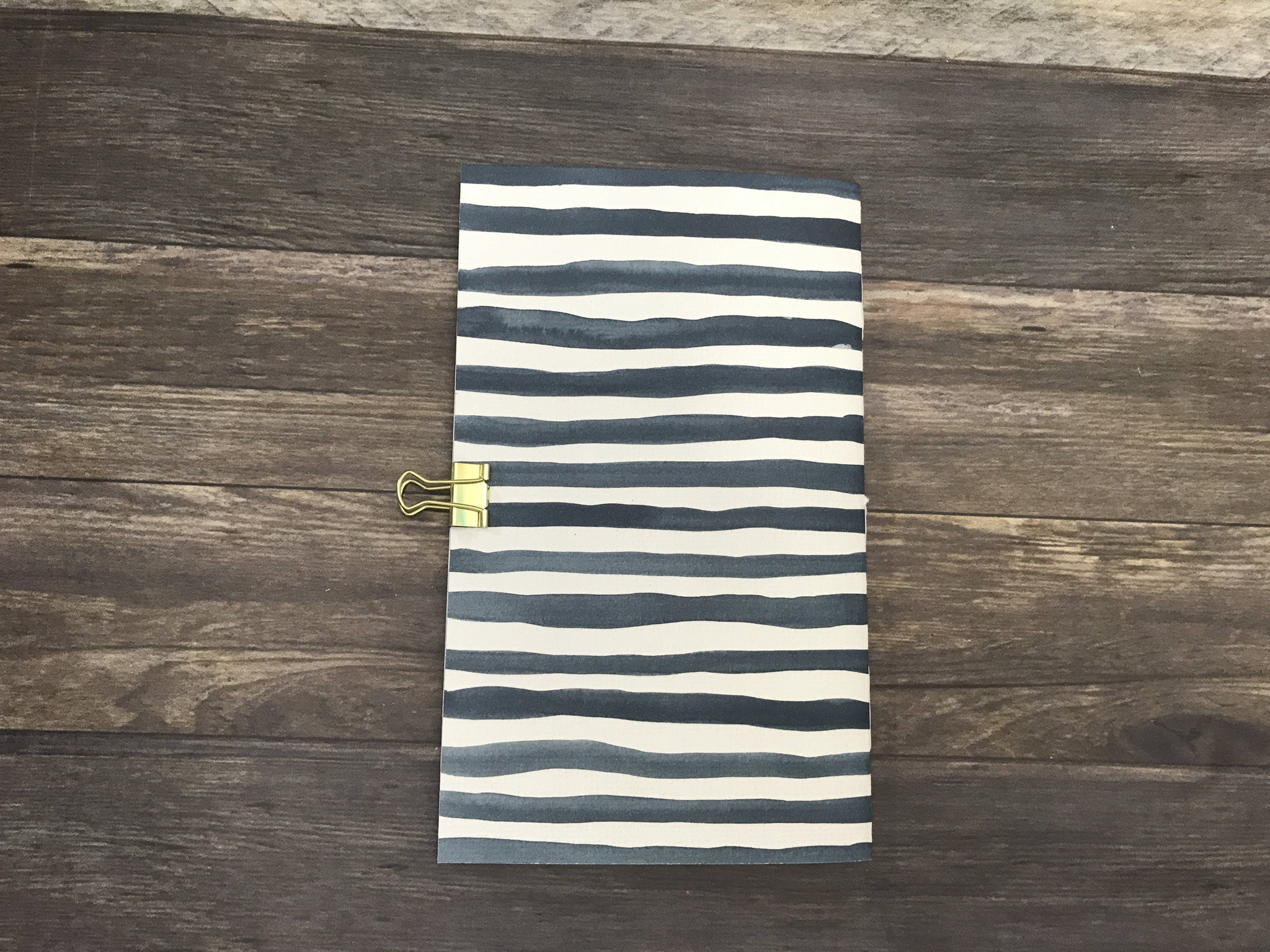 Hand Painted Striped Travelers Notebook Insert
