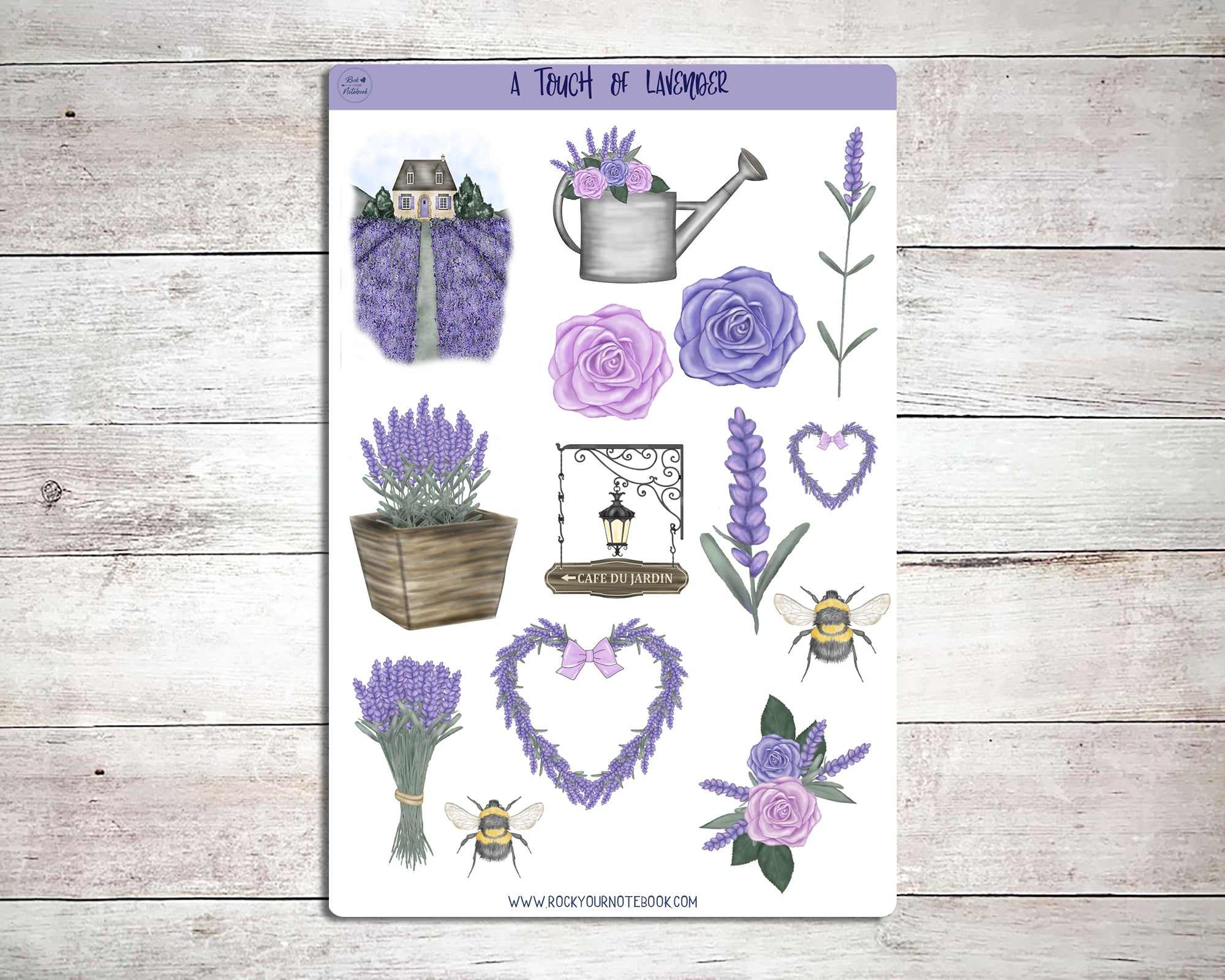 A Touch of Lavender Decorative Stickers