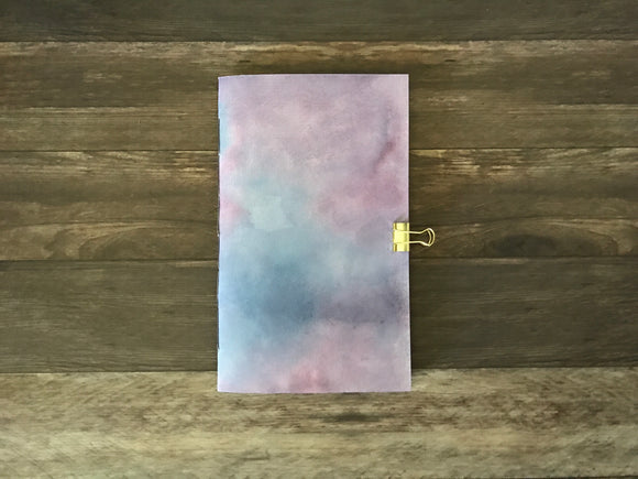 Blue and Purple Watercolor Travelers Notebook Insert