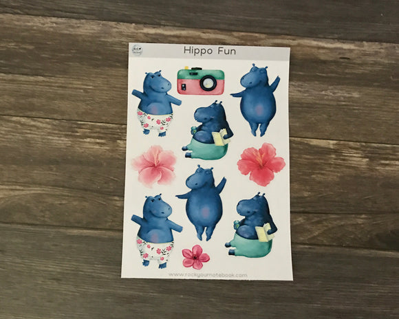 Hippo Fun Stickers