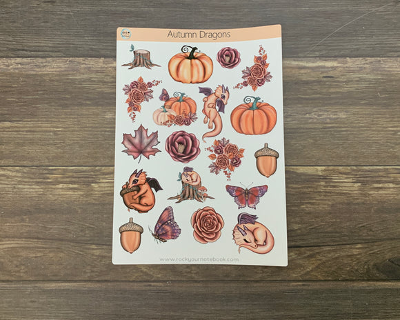 Autumn Dragon Stickers