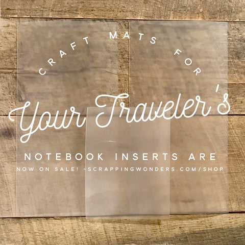Craft Mat/Writing Board for Traveler's Notebook Inserts