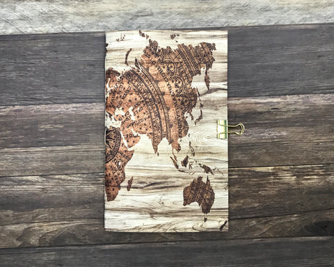 brown world map travelers notebook insert
