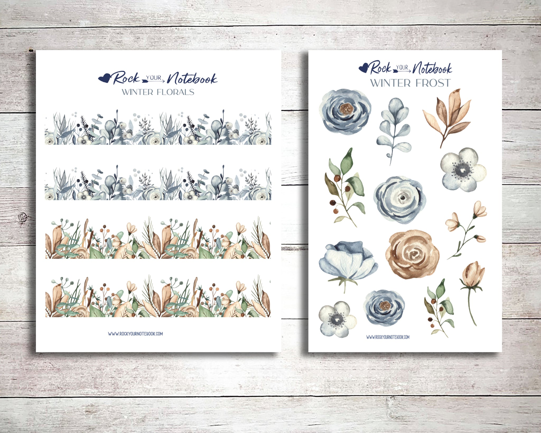Winter Frost Decorative Planner Stickers
