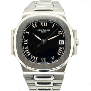 Patek Philippe Nautilus Stainless Steel Black Dial & Roman Numerals 3800/1A-001