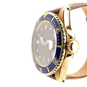 Rolex Submariner Vintage 18K Yellow Gold Tropical Dial Ref. 16808