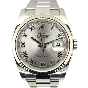 Rolex Oyster Pepetual Datejust Stainless Steel 36mm Fluted Bezel Ref. 116234
