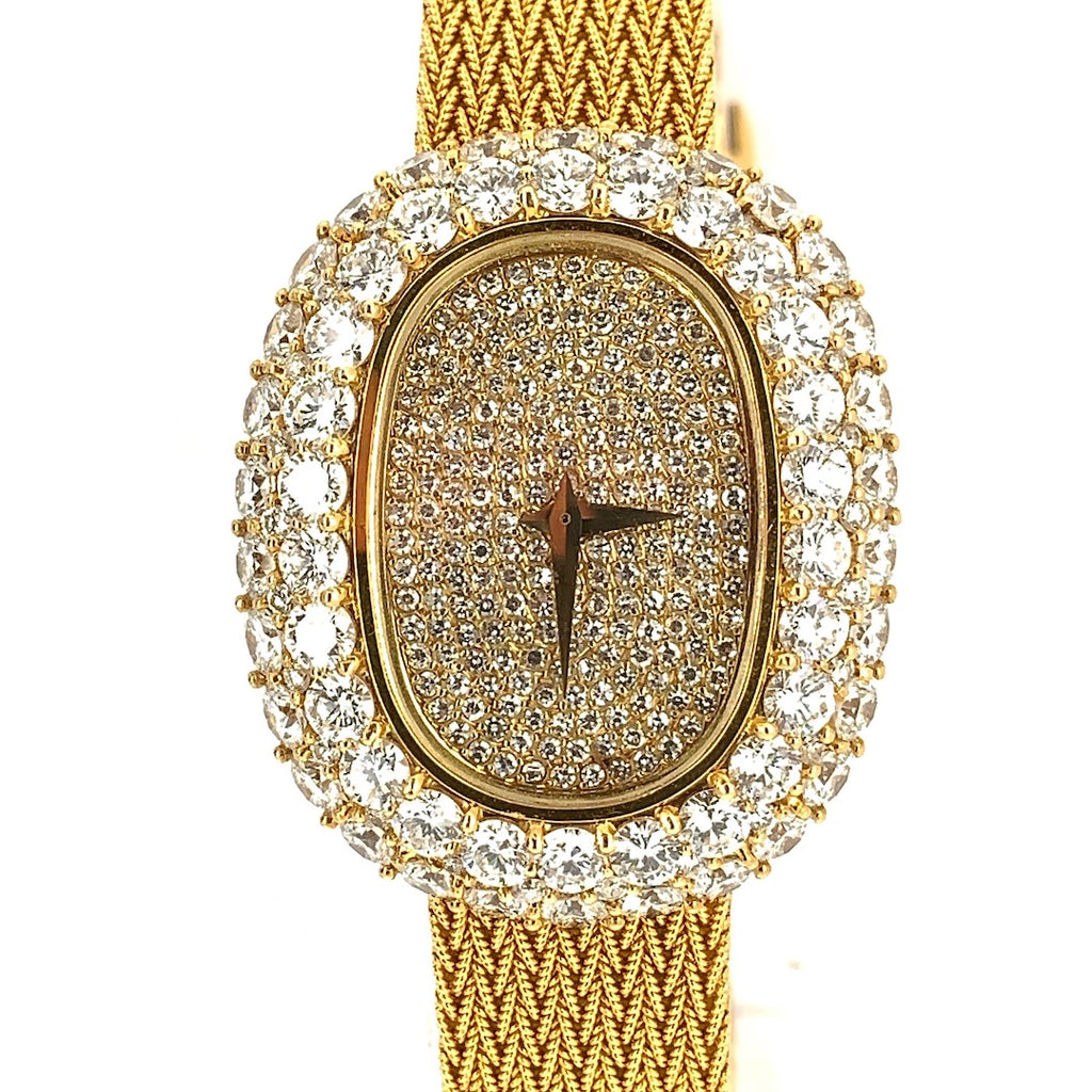 Vacheron Constantin Cocktail Bracelet Watch 18K Yellow Gold & Diamonds