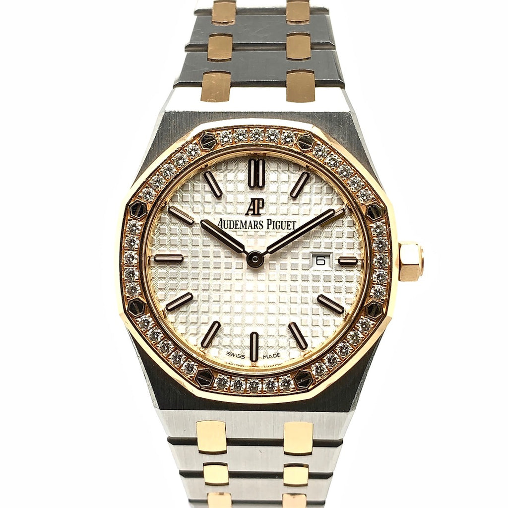 Audemars Piguet Ladies Royal Oak Two-Tone Diamond-Set Bezel