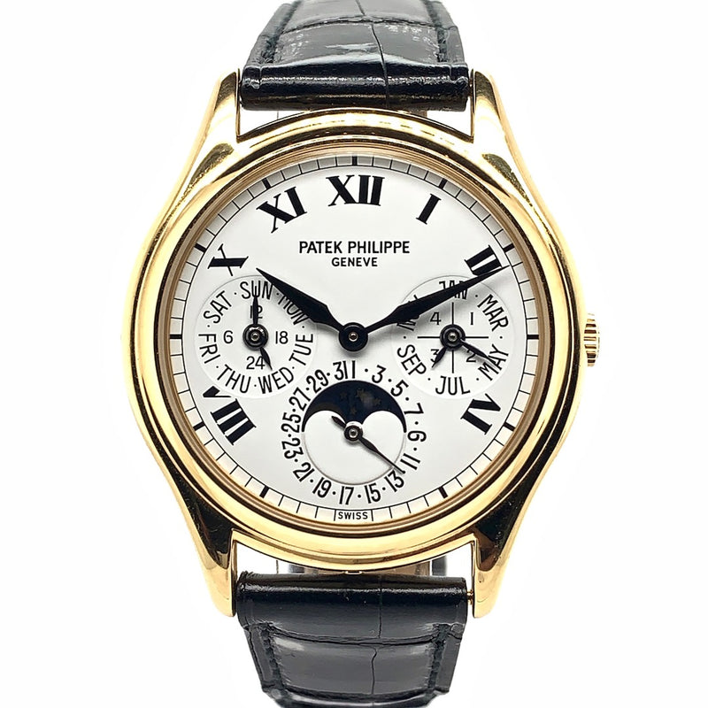 Patek Philippe Perpetual Calendar Moon Phase Roman Numerals 18K Yellow Gold Ref. 3940J