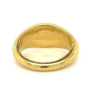 ancient intaligo gold museum quality ring