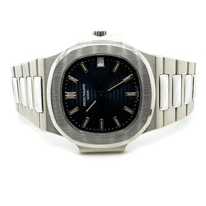 Patek Philippe Nautilus Stainless Steel Striated/Guilloche Black Dial 3800/1A Unpolished