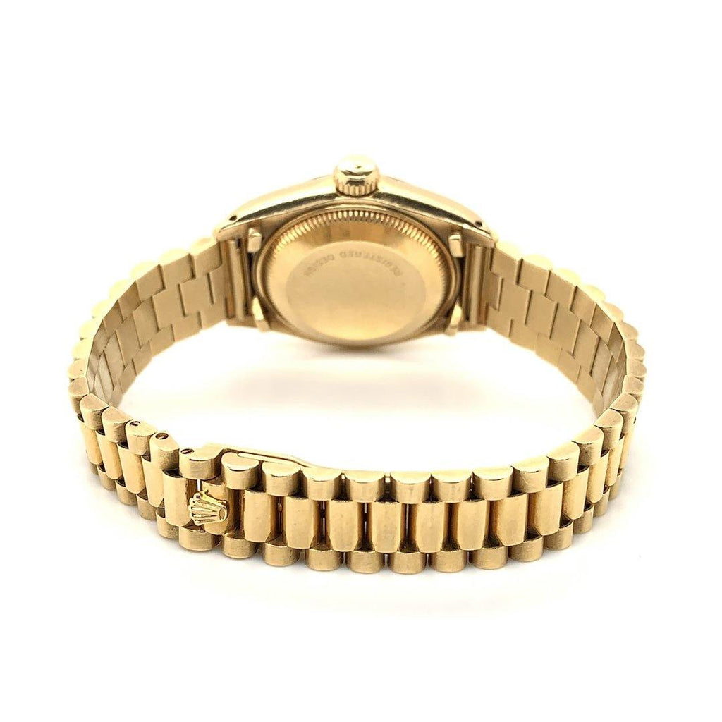 Rolex Datejust 18K Yellow Gold Jubilee Bracelet Rare Wood Dial Ref. 79178
