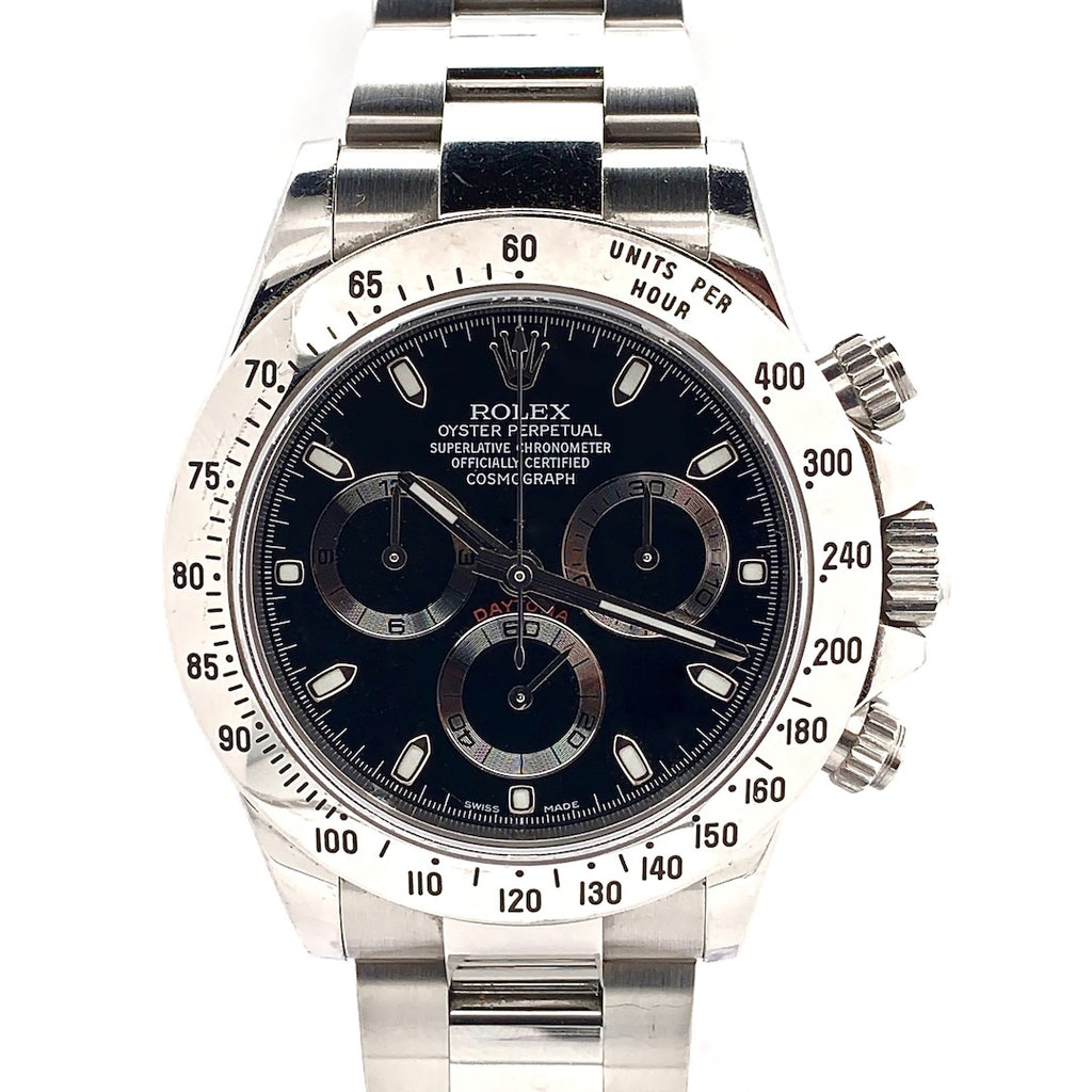 Rolex Oyster Perpetual Cosmograph Daytona Black Dial Stainless Steel Ref. 116520