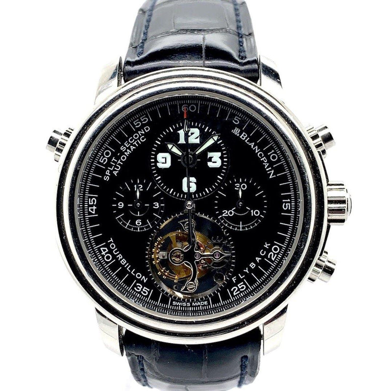 Blancpain Leman Chronograph Split-Seconds Flyback Tourbillon Platinum Limited Edition