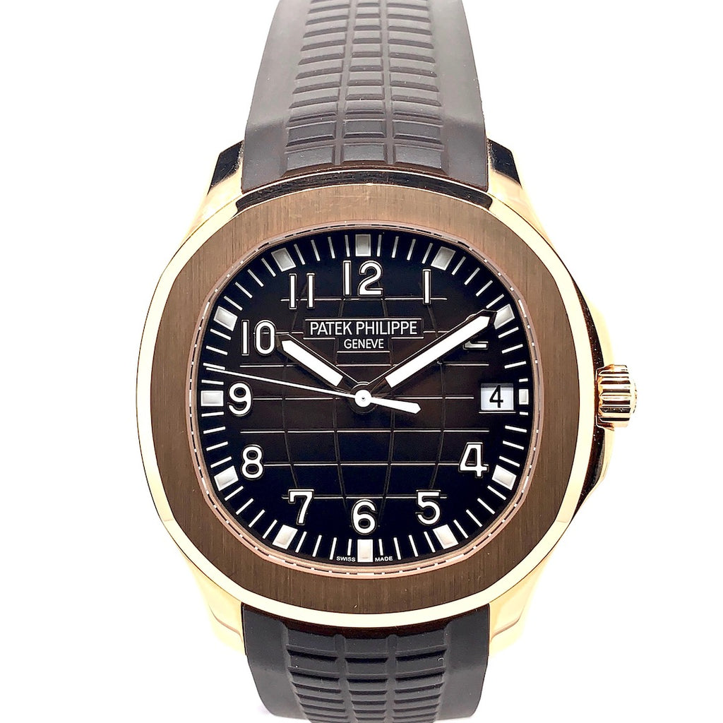 Patek Philippe Aquanaut 18K Rose Gold Brown Embossed Dial Ref. 5167R-001