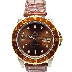 Rolex GMT-MASTER II Two Tone Root Beer Dial Ref. 16713 Circa 1989
