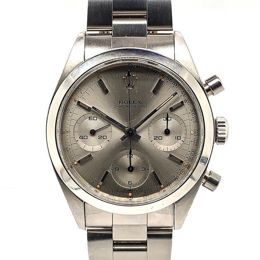 "Rolex Vintage 6238 ""Pre-Daytona"" Stainless Steel Chronograph Grey Dial Circa 1963"