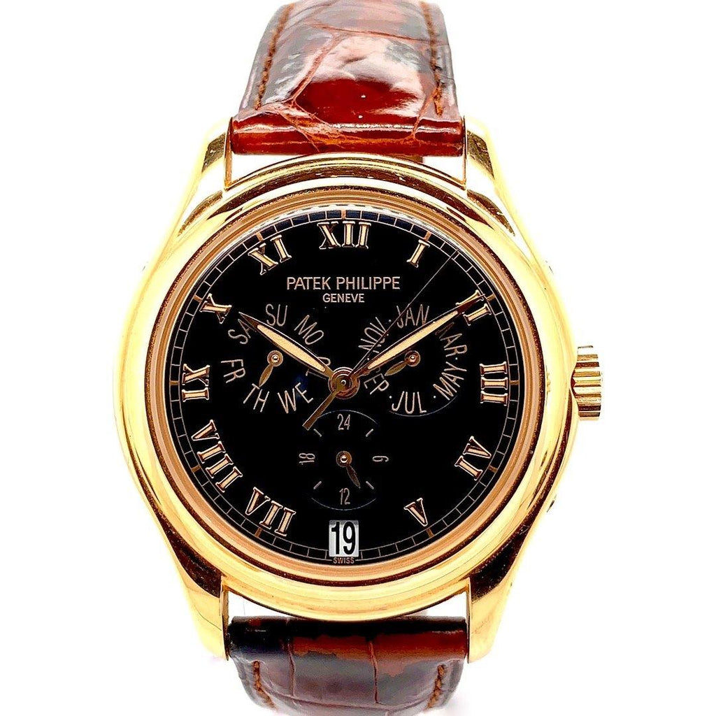 Patek Philippe Complication Annual Calendar Black Dial 18K Rose Gold Ref. 5035R