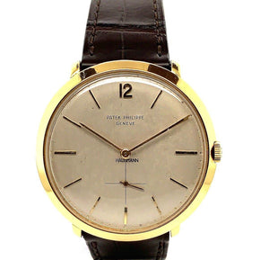 Vintage Patek Philippe Calatrava 18K Yellow Gold Ref. 2572J With Hausmann & Co. Retailer's Mark | Twain Time