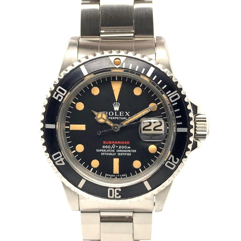 "Rolex Red Submariner Vintage Stainless Steel Ref. 1680 ""MK IV"" 1975"