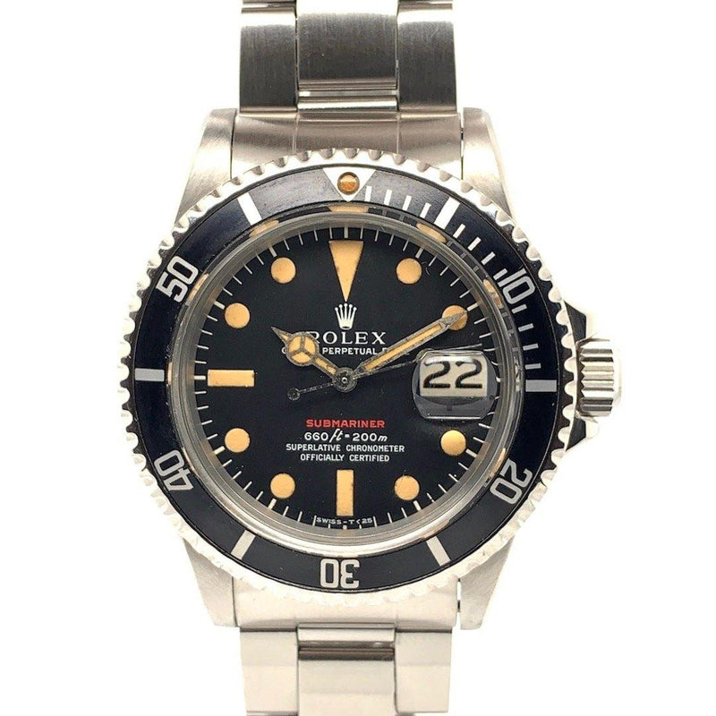 Rolex Red Submariner Vintage Stainless Steel Ref. 1680