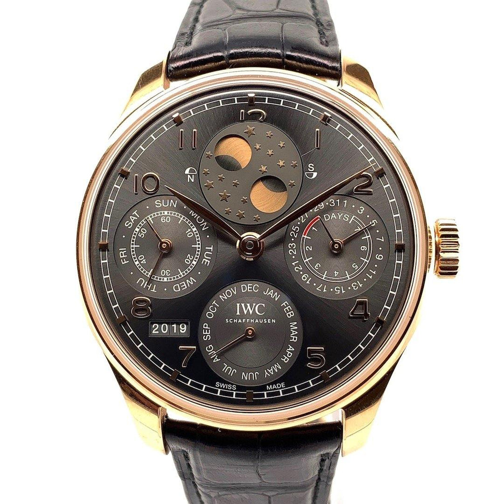 IWC Portugieser Perpetual Calendar Moon Phases 18K Rose Gold