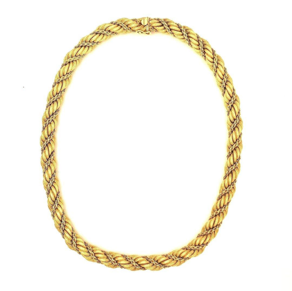 Tiffany & Co. Woven Rope-Twist Collar Necklace 18k Yellow Gold