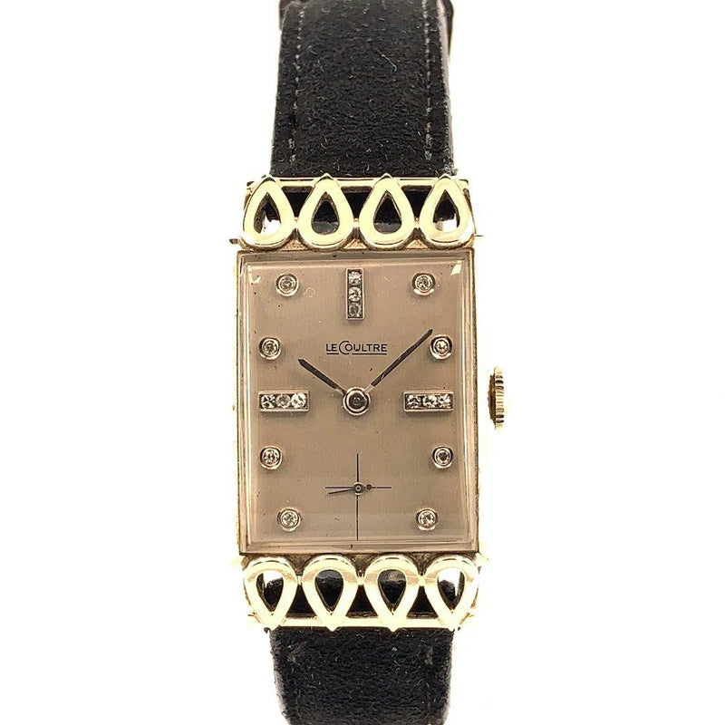 Vacheron Constantin - LeCoultre 18K White Gold & Diamonds Art Deco Gents Vintage Watch 1940's